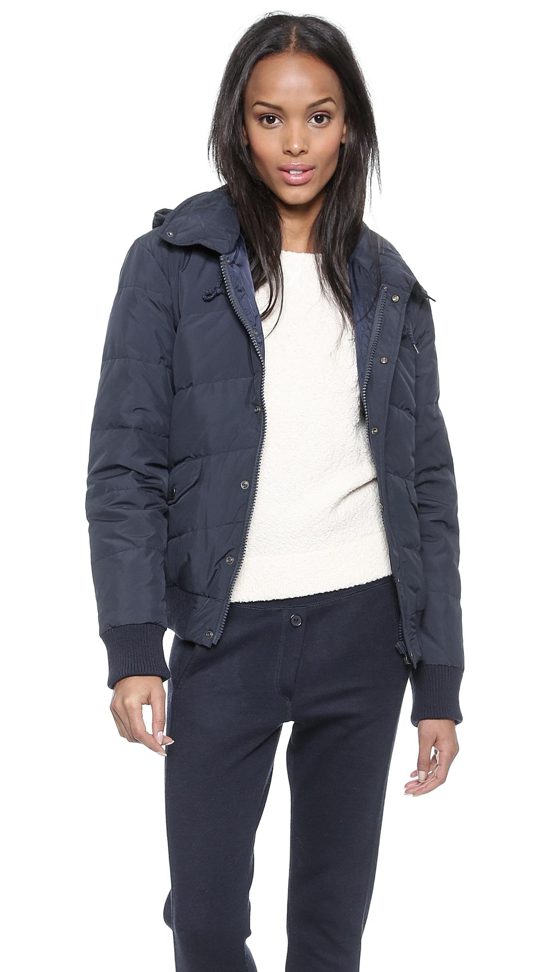 Куртка-бомбер с капюшоном и мягкими подкладками A.P.C.. Цвет: голубой