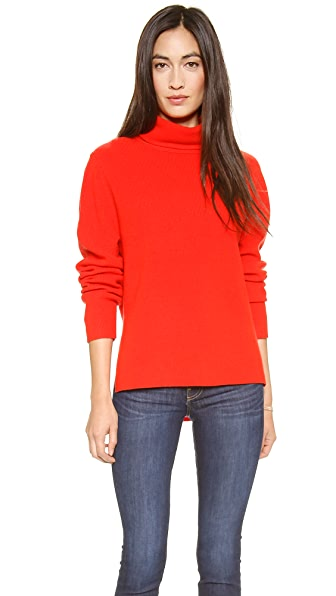 Apiece Apart Uta Side Seam Turtleneck Sweater