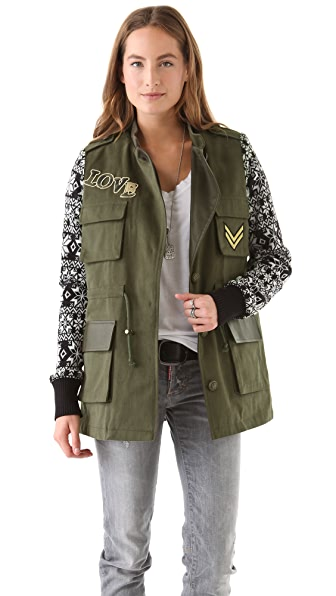April, May Milisa Military Knit Jacket