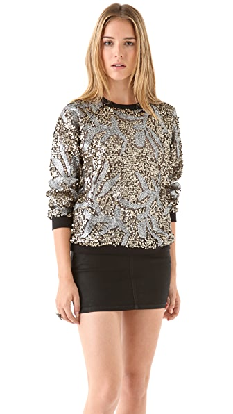 April, May Noa Sequin Sweatshirt