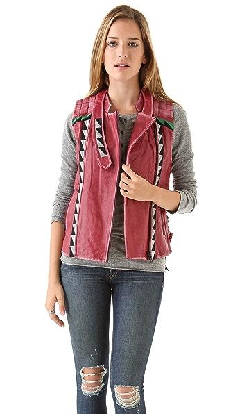 April, May Valeri Leather Vest