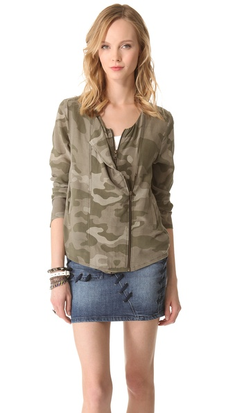 April, May Cami Camouflage Jacket