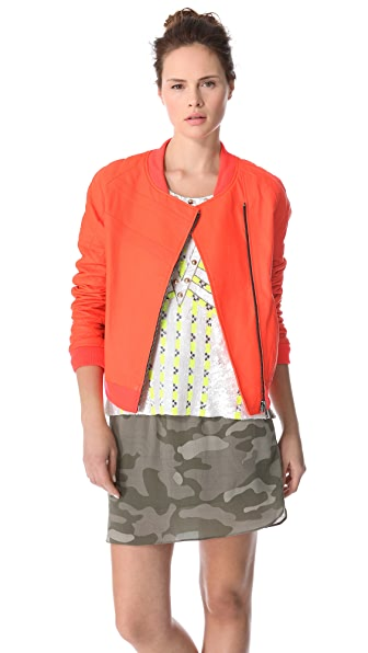 April, May Bono Quilted Leather Jacket
