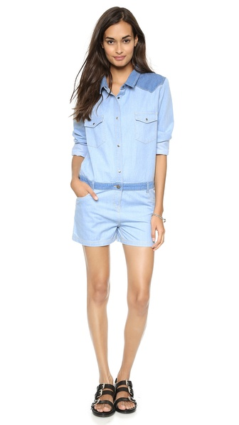 April, May Nyah Denim Romper