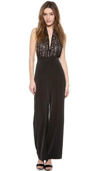 Aq/Aq Ivy Jumpsuit - Black/Black Ivy Lace/Nude at Shopbop / East Dane