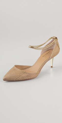 Aquazzura Emmanuelle Snakeskin d'Orsay Pumps
