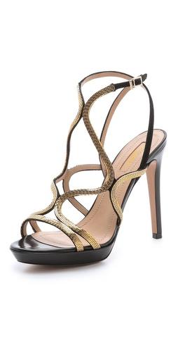 Aquazzura Martini Strappy Chain Sandals