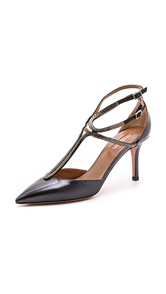 Aquazzura Melrose Pumps with Chain Detail