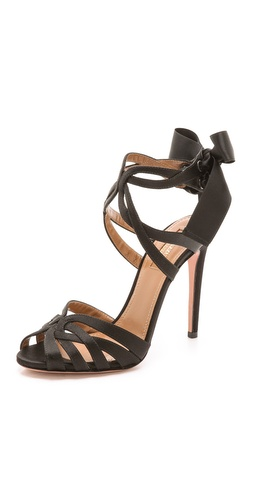 Aquazzura Charlotte Tie Up Sandals