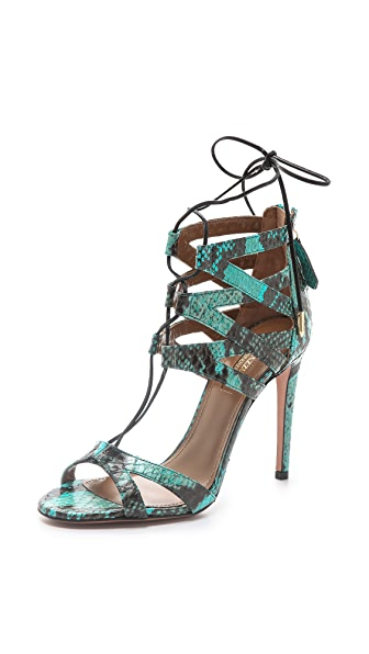 Aquazzura Beverly Hills Lace Up Sandals