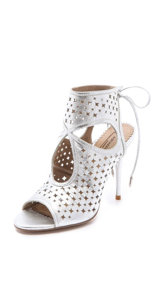 Aquazzura Sexy Star Perforated Sandals