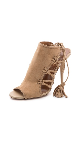 Aquazzura Sahara Braided Lace Sandals