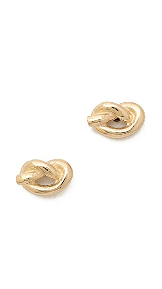 Ariel Gordon Jewelry Love Knot Stud Earrings