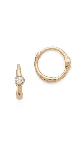 Ariel Gordon Jewelry Mini Huggie Bezel Earrings