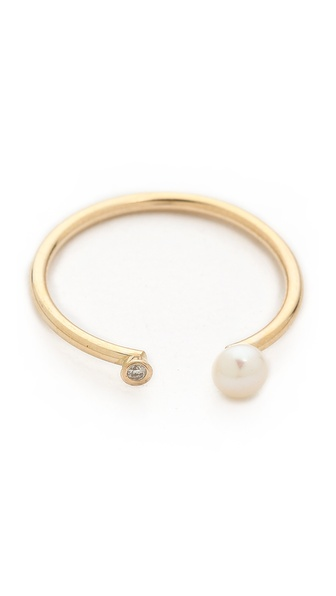 Ariel Gordon Jewelry Dual Natural Freshwater Pearl & Diamond Ring