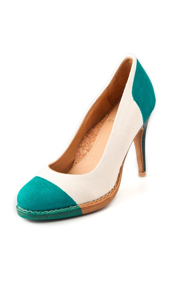 The Office of Angela Scott Mrs. Seymour Cap Toe Pumps