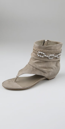 Ash Sari Suede Thong Booties