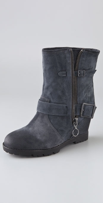 Ash Subway Wedge Engineer Booties