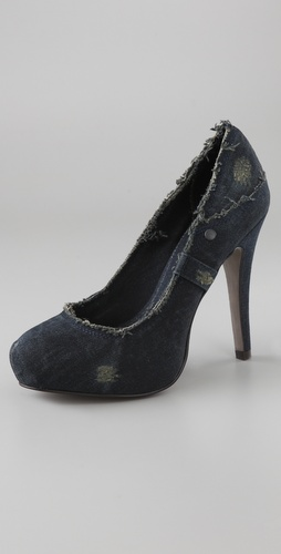 Ash Electra Denim Platform Pumps