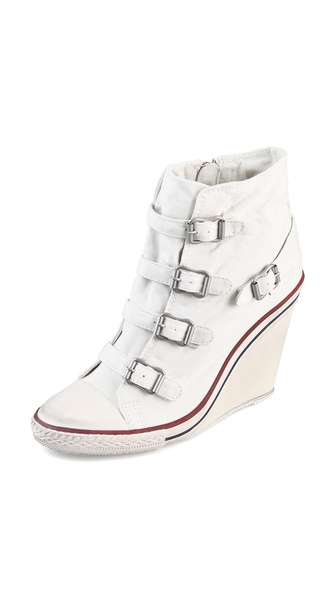 Ash Thelma Wedge Sneakers - White at Shopbop / East Dane