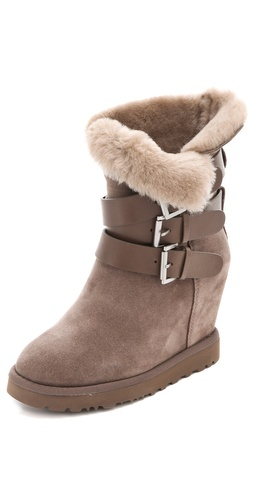 Ash Yes Shearling Wedge Boots at Shopbop.com