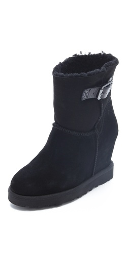 Ash Youri Shearling Wedge Boots at Shopbop.com