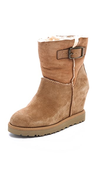 Ash Youri Shearling Wedge Boots
