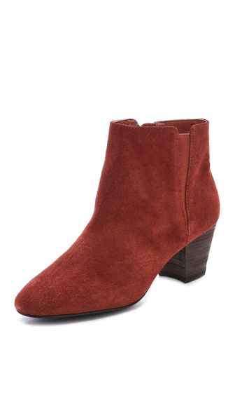 Ash Super Mid Heel Suede Booties