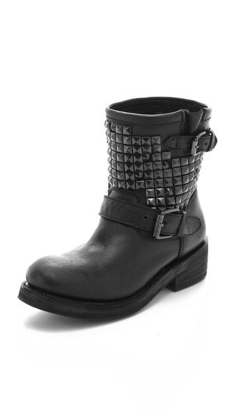 Ash Titan Engineer Boots with Studs