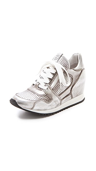 Ash Dean Metallic Wedge Sneakers