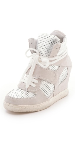 Shop Ash Cool Wedge Sneakers with Metallic Insets - Ash online - Footwear,Womens,Footwear,Sneakers, at Lilychic Australian Clothes Online Store