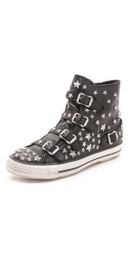 Ash Vertue Studded Buckle Sneakers at Shopbop / East Dane