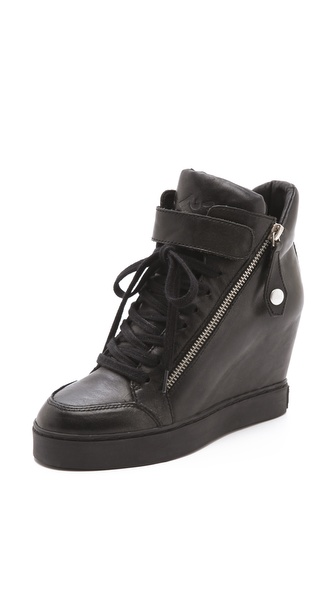 Ash Body Buckle Wedge Sneakers