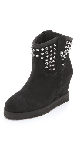 Ash Yahoo Wedge Suede Booties at Shopbop / East Dane