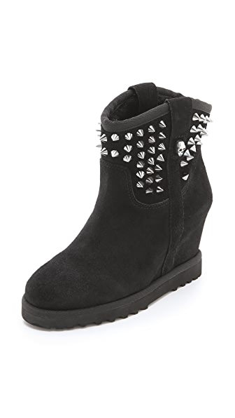 Ash Yahoo Wedge Suede Booties
