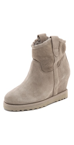 Shop Ash Yahoo Suede Wedge Boots online and buy Ash latest season - Footwear, Womens, Footwear, Boots,  online shop
