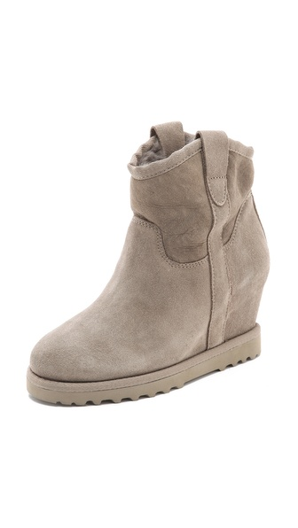 Ash Yahoo Suede Wedge Boots
