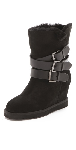 Ash Yes Buckle Wedge Boots at Shopbop / East Dane