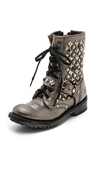 Ash Ryanna Studded Lace up Booties