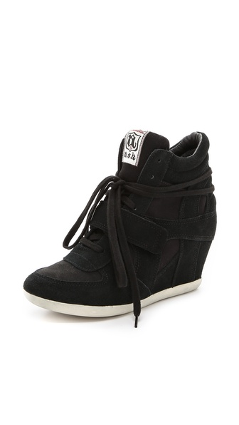 Ash Bowie Wedge Sneakers - Black/Black at Shopbop / East Dane
