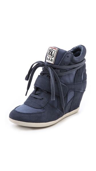 Ash Bowie Wedge Sneakers - Navy/Navy at Shopbop / East Dane