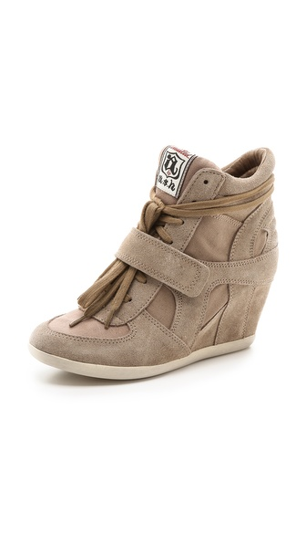 Ash Bowie Wedge Sneakers - Taupe/Taupe at Shopbop / East Dane