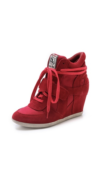 Ash Bowie Wedge Sneakers - Coral/Coral at Shopbop / East Dane