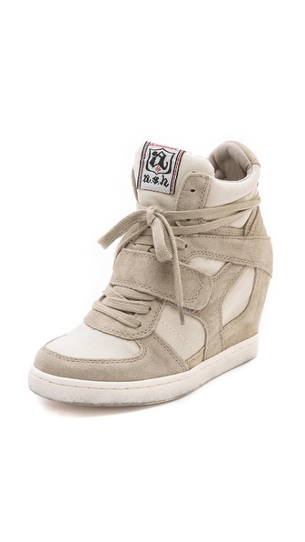 Ash Cool Wedge Sneakers - Clay at Shopbop / East Dane