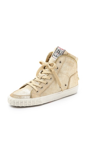 Ash Shake Metallic Sneakers - Platine at Shopbop / East Dane
