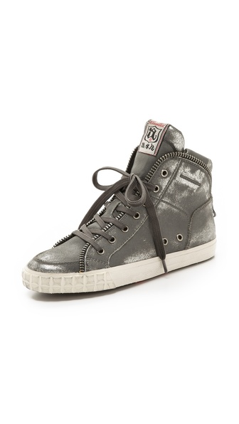 Ash Shake Metallic Sneakers - Black Gun at Shopbop / East Dane