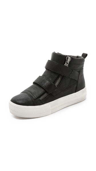 Ash Jump Double Strap Sneakers - Black/Black at Shopbop / East Dane
