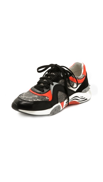 Ash Hendrix Sneakers - Black/Roccia/Fluo Peach/Cream at Shopbop / East Dane