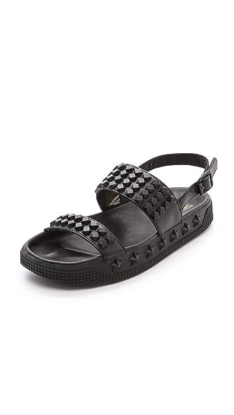 Ash Karma Studded Flat Sandals