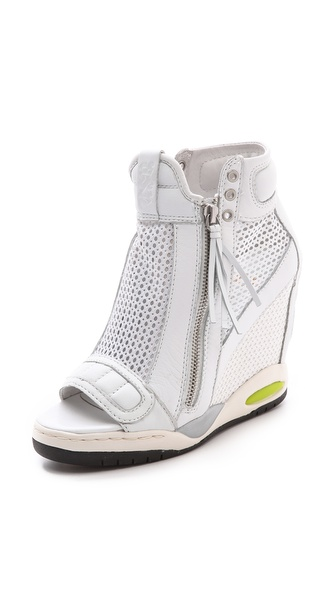 Ash Electric Mesh Open Toe Sneakers - Mesh White at Shopbop / East Dane